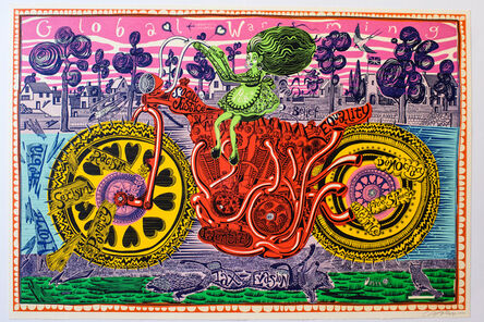 Grayson Perry, 'Selfie With Political Causes', 2018