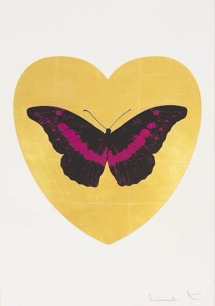 Damien Hirst, 'I Love You - gold leaf, black, fuchsia ', 2015