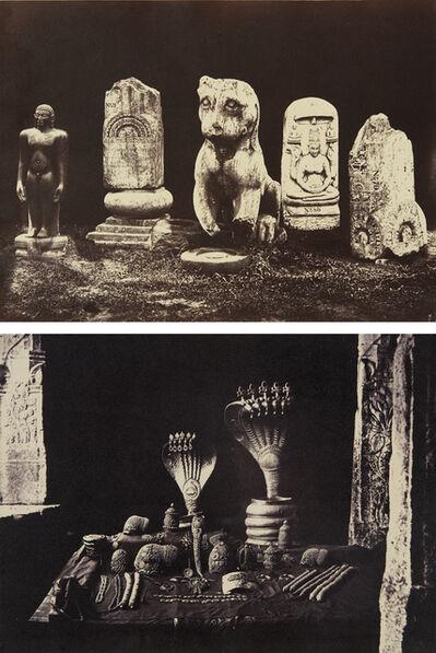Linnaeus Tripe, 'Sculpture Study, Central Museum, Madras and The Pagoda Jewels, Madura', 1858-1859