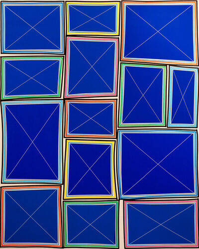 Bradley Harms, 'Stacked Simple Exes (Cobalt)', 2015