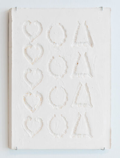 LaKela Brown, 'Heart, Round, and Triangle Bamboo Earring Composition Sunken Relief', 2018