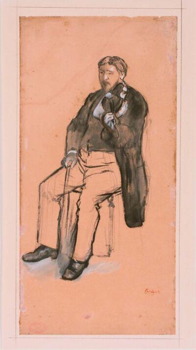Edgar Degas, 'Seated Violin Player', 1872