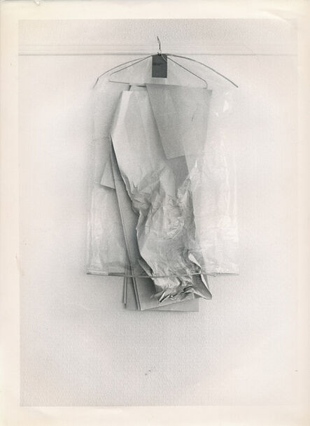 Bruce McLean, 'Installation for wardrobe hanging on picture rail', 1969