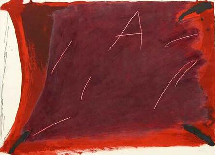 Antoni Tàpies, 'A Damunt Vermell 1', 1976