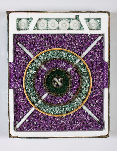 Carol Cole (b. 1943), 'Crave Your Calcium (Another Target, after Jasper Johns)', 2013