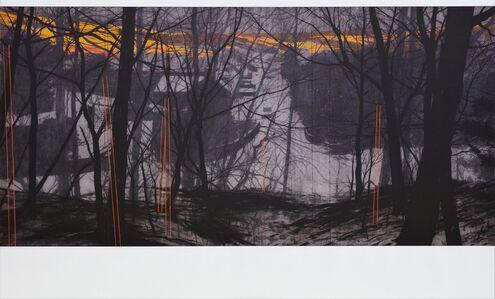 Andrew Mackenzie, 'Street View Revisited, Snow Poles', 2020