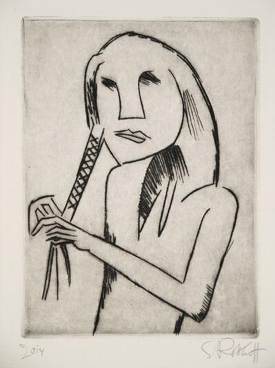 Karl Schmidt-Rottluff, 'Haarflechtende (Hair braiding Girl)', 1920