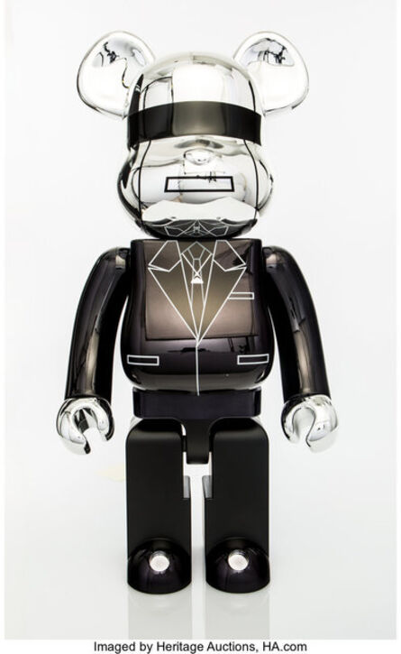 BE@RBRICK, 'Daft Punk 1000% (Silver)', 2018