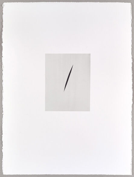 Alison Watt, 'Payne's Grey Split (I)', 2016