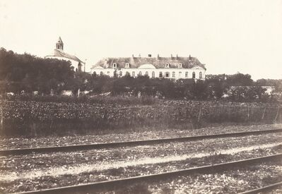 Édouard Baldus, 'Abbaye du Gard pres d' Abbeville', ca. 1855