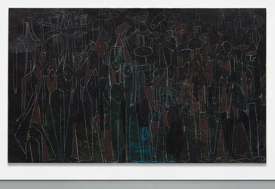 George Condo, 'Black Standing Figures', 2000