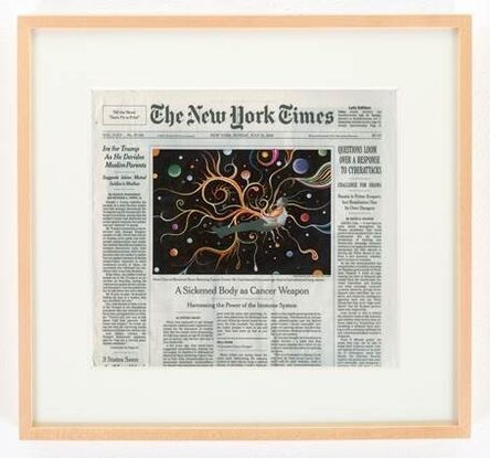 Fred Tomaselli, 'NYTimes, Sunday, July 31, 2016', 2016
