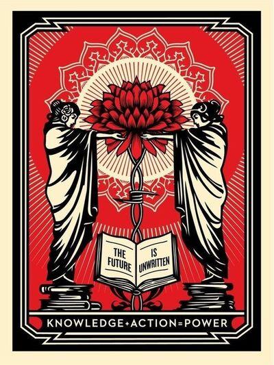 Shepard Fairey, 'Knowledge + Action', 2018