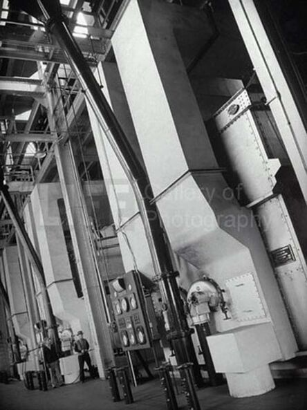 Margaret Bourke-White, 'Steam Boilers at the Industrial Rayon Corp Factory', 1939
