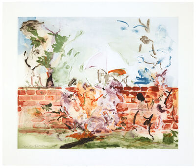 Cecily Brown, 'Color Etching with Brick Wall', 2003