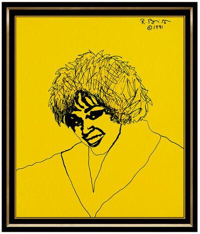 Romero Britto, 'Romero Britto Large Original Acrylic Painting On Canvas Whitney Houston Signed', 1991