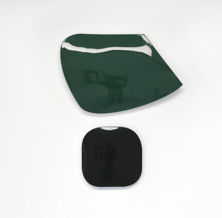 Johan Van Oeckel, 'Untitled (green & black)',  2019