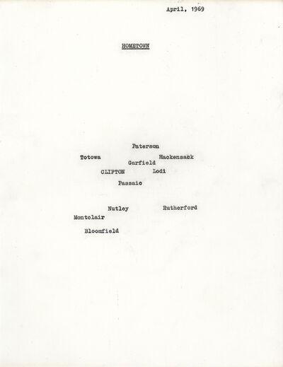 Nancy Holt, 'Hometown', 1969