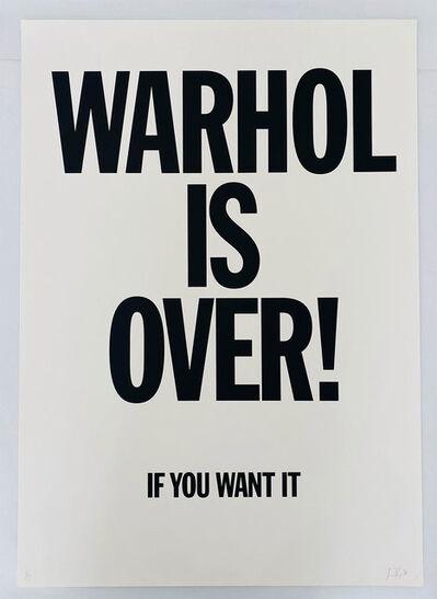 Simon Thompson, 'Warhol Is Over (White)', 2007