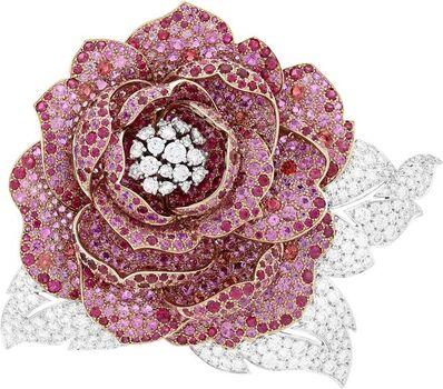 Van Cleef and Arpels, 'Pivoine clip. Unique piece, High Jewelry Collection', 2017