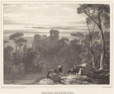 Richard Parkes Bonington after Francois Alexandre Pernot, 'Chateau de Bothwell', 1826