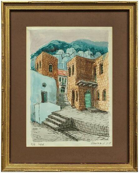 Zvi Ehrman, 'Street Scene in Safed, Israel', 20th Century