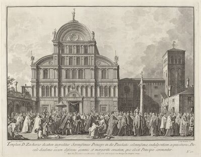 Giovanni Battista Brustolon after Canaletto, 'Visit of the Doge to San Zaccaria on Easter Day', 1763/1766