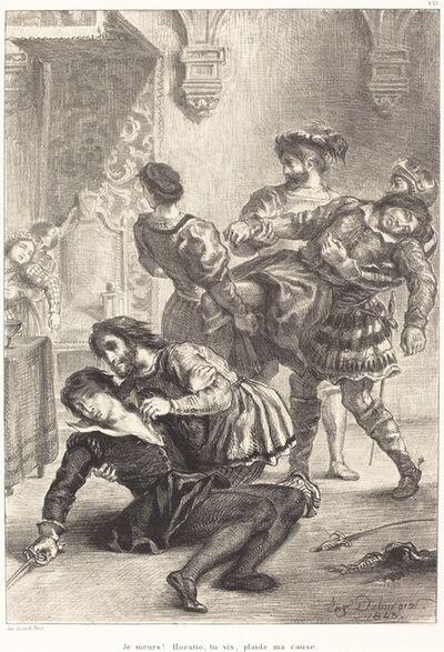 Eugène Delacroix, 'The Death of Hamlet (Act V, Scene II)', 1843