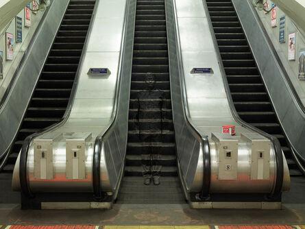 Liu Bolin, 'London No. 3 - Underground Escalators ', 2014