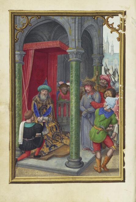 Simon Bening, 'Pilate Washing his Hands', 1525-1530