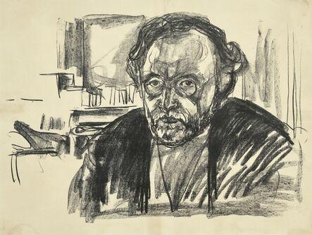 Edvard Munch, 'Self Portrait with Beard (Woll, 630)', 1919