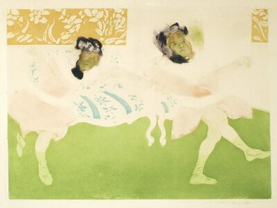 Jacques Villon, 'Le cake-walk des petites filles, (trial proof),', 1904