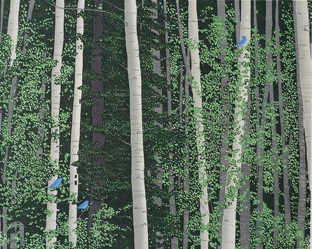 Andrea Rich, 'Aspen and Bluebirds', 2013