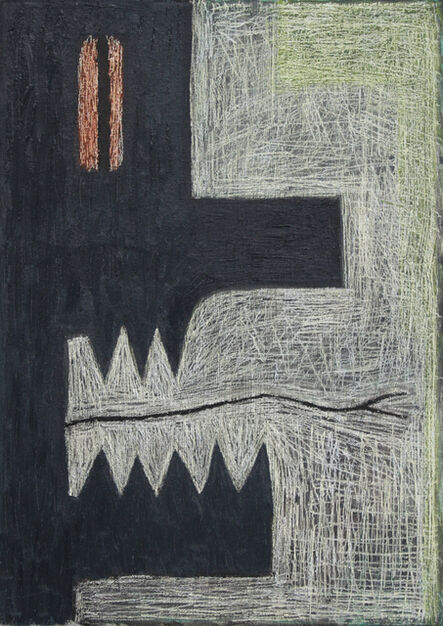Alex Gene Morrison, 'Orange Eye (Yellow Border)', 2018