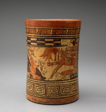 'Cylinder vase depicting scribes in the Underworld', ca. 600 -900