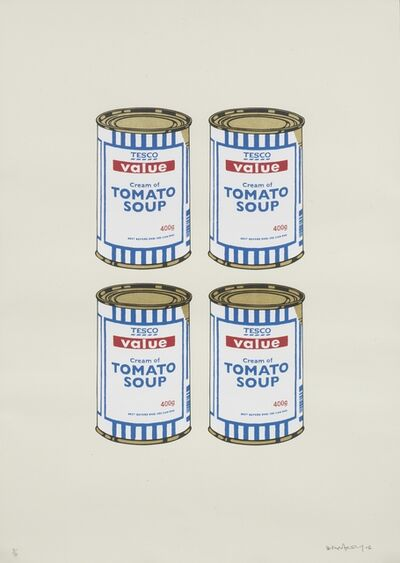 Banksy, 'Four Soup Cans (Gold on Cream) ', 2006