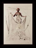 Salvador Dalí, ' La Venus Aux Fourrures Woman Holding Veil ', 1968