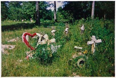 William Christenberry, 'Grave with Crimson Wreath, Near Greensboro, Alabama', 1979