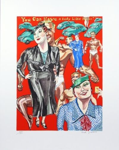Red Grooms, 'You can have a body like mine', 1978