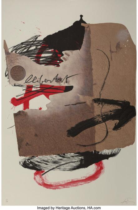 Antoni Tàpies, 'Arrow, from Official Arts Portfolio of the XXIVth Olympiad, Seoul, Korea', 1988