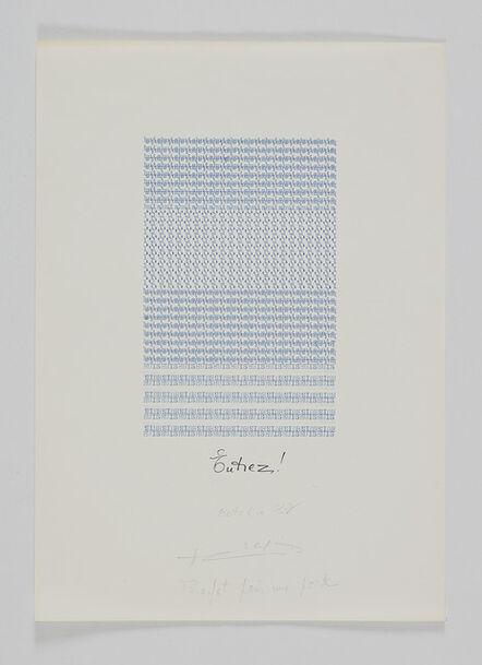Henri Chopin, 'Entrez! Profet pour une porte', 1982