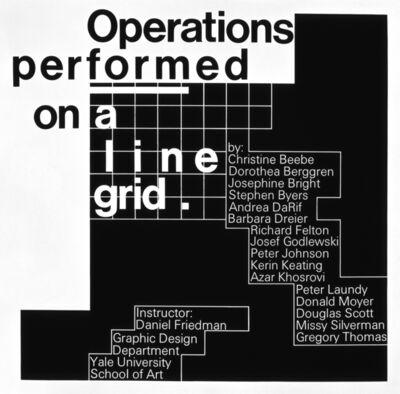 Dan Friedman, 'Operations Performed on a Line Grid', 1973