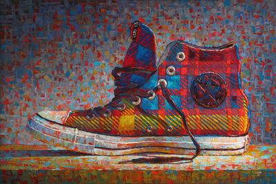 Raymond Logan, 'Converse Hi-Top Plaid', 2016
