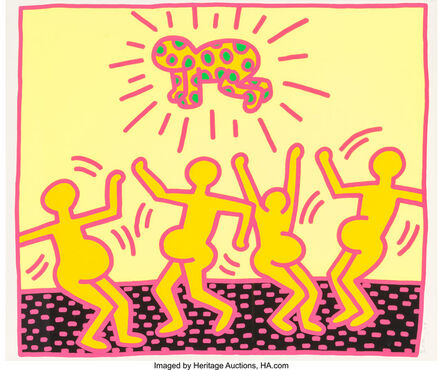 Keith Haring, 'One Plate, from The Fertility Suite', 1983