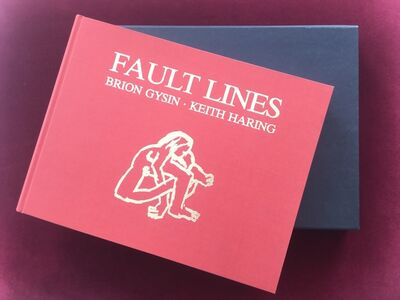 Keith Haring, 'Fault Lines (hand signed and numbered hardcover book with 52 pages of illustrations by Keith Haring, accompanying poems by Brion Gysin)', 1986