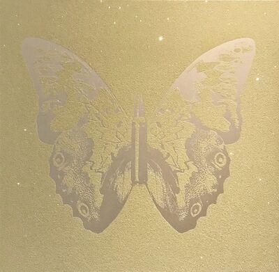 Rubem Robierb, 'Pearl on pink sand bulletfly'