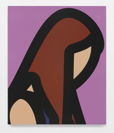 Julian Opie, 'Woman with long brown hair', 2015