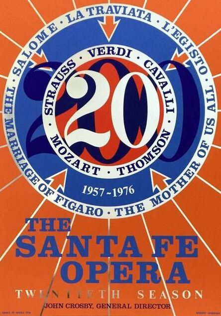 Robert Indiana, 'Santa Fe Opera 20th Anniversary Season, 1976 Edition Silkscreen Poster', 1976