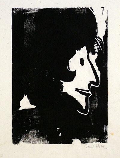 Emil Nolde, 'Profile of a Woman', 1917