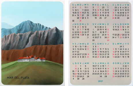 San Poggio, 'Almanaque de días no correlativos  / Non-correlative days almanac ( 239 - 240) diptych', 2019